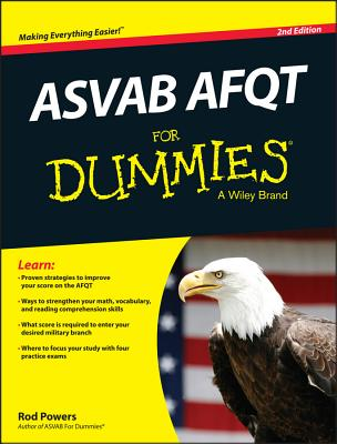 ASVAB AFQT for Dummies By Powers, Rod